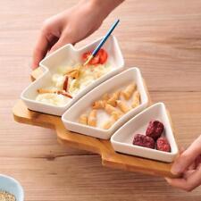 4Pcs/set Christmas Tree Plate Dinnerware Salad Cake Fruit Dessert Ceramic Dishes