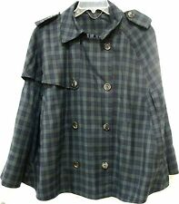 Topshop Cape Tartan Plaid Sz UK 14/US 10 Jacket/Coat Punk Rockabilly