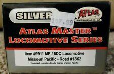 Atlas Master Silver 9911 MP-15DC Locomotive Missouri Pacific Road #1362 HO Scale