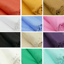 "100% Natural Cotton Linen Mix Soft Fabric Material, 60"" Wide, 30 Colors"