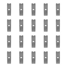 20 PCS CHROME Gridwall Utility  Hook Picture  Hanger Grid  Panel Notch Display