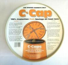 """C CAP Buff Chimney Capping Cowl fits disused Chimney Pots Up To 11"""" 280mm C-Cap"""