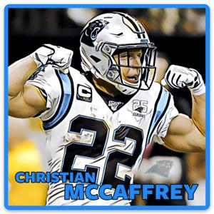 Christian McCaffrey Carolina Panthers Character Rendering NFL Football MAGNET