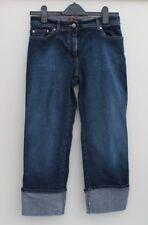 Jeans ritagliata con polsini Donna 10 Prossimo Blu ottime condizioni (J1)