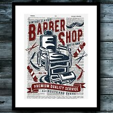 Barber Shop Modern Wall Art Print Vintage Dictionary Poster Office Home Decor