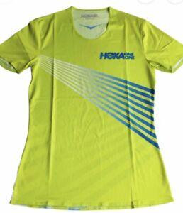 HOKA ONE ONE TECH Women's Short Sleeve Citrus T-Shirt NEW