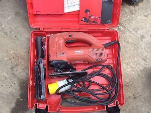 HILTI WSJ 750-ET JIG SAW CARRY CASE STEEL TIMBER PLASTIC JOINER 110 VOLT