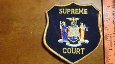NEW YORK   SUPREME COURT OFFICER  OBSOLETE SHOULDER   PATCH BX y#155