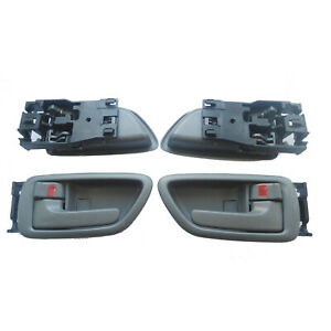 For 01-07 Toyota Sequoia Tundra Inside Gray Left Right Side Door Handle 4Pcs