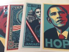"Obama ""HOPE"" Be The Change (4pc) shepard fairey art print #L16"
