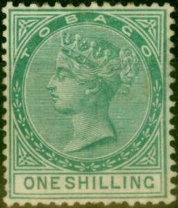 Tobago 1879 1s Green SG4 Fine Mtd Mint