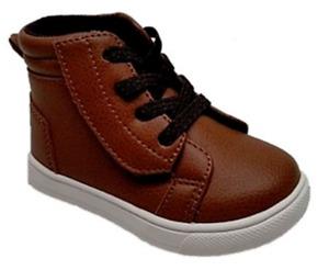 Wonder Nation -  INFANT BOYS 6 - Casual High Top Sneaker - Brown Walking Shoes