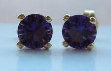 Not Enhanced Amethyst Yellow Gold Fine Earrings
