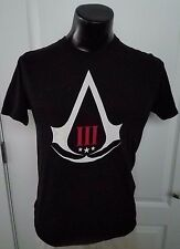 Assassins Creed Black Flag III Video Game Logo Black T Shirt Medium Rare