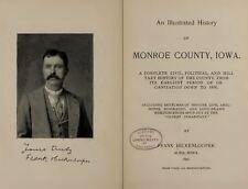 MONROE & APPANOOSE County Iowa IA, History and Genealogy Ancestry Family DVD B38