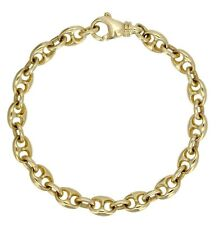 "14k Yellow Gold Solid Puffy Mariner Gucci Link Bracelet 8.5"" 7.5mm 26.5 grams"