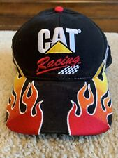 CAT Racing Adjustable Baseball Hat Flames 22 NASCAR Ward Burton