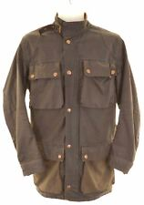 BELSTAFF Mens Military Jacket Size 36 Small Brown Cotton  FJ18