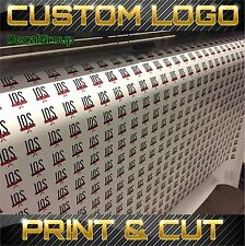 Custom Printed Logo Vinyl Adhesive Stickers Decals Labels 1 Design Bulk order