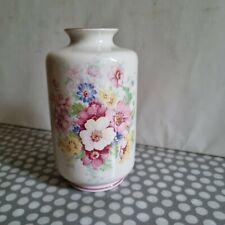 More details for vintage james kent staffordshire vase with floral decoration. marked