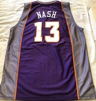 Steve Nash Phoenix Suns authentic Reebok purple game model stitched jersey