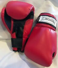 PROFORCE Leatherette Boxing Gloves Red with Black Palm - 16oz NEW