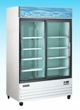 OMCAN RE-CN-0045 45cf 2-Door Commercial Glass Cooler Refrigerator Merchandiser