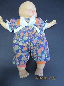 "Vintage CITITOY BABY DOLL -1991 -14"" Vinyl and Cloth Very Cute"