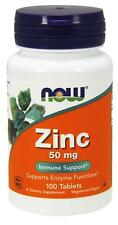 Zinc Gluconate 50 mg 100 Tabs Now Foods, Immune Support