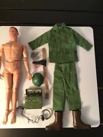 "Vintage 1964 12"" Gi Joe Green Beret Action Figure Red Hair W Accessories Hasbro"