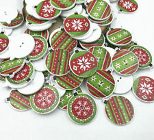 25X Christmas decoration Wooden Buttons Mix Sewing Scrapbooking Accessories 26mm