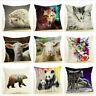 "18"" Wildlife Animal Sheep Panda Bear Cushion Cover Decorative Throw Pillow Case"