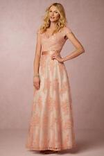 NEW - Alina Dress (Anthropologie BHLDN $430) Wedding - Peach Lace - 6