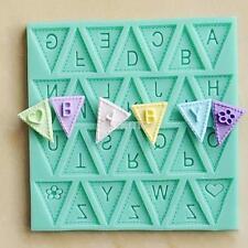3D Silicone Alphabet Letter Trays Chocolate Mold Cake Fondant Decorating Tools