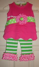 MUD/PIE~girl's~LITTLE/SPROUT/2Pc/FANCY/LEGGINGS/&/TOP! (0/6/MO) BRAND/NEW! @@