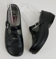 Klogs Black Leather Mary Jane Shoes Size 8.5 Slip Resistant Nursing Comfort