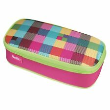 Helix Neon Jumbo PENCIL CASE Extra Large Zipped Stationery Holder Make Up Bag