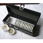 PU Leather Coin Storage Case Security Display Box Safe Holder Capacity 20 PCGS A