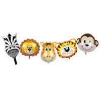 34pc Happy Birthday Party Decor Ballon Jungle Animal Balloon Cartoon Toy Kid Fun