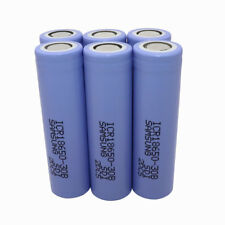 6X18650 ICR 3000mAh Li-ion Battery Rechargeable Flat Top High Drain for Notebook