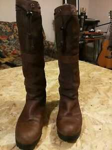 Sebago Suede and Leather Waterproof Knee-High Riding Boots size 7.5/8