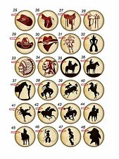 """Wholesale Party Set (24) 1.25"""" Pinback Button Badge Western Cowboy (#25-48)"""