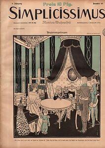 1897 Simplicissimus October 23 - Steinlen;Paul;Cheret Art Nouveau-Extremely Rare