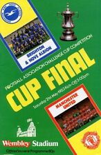 Manchester United Football FA Cup Fixture Programmes (1980s)