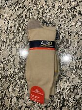 Auro Gold Toe Socks Style: AM135 Large Size 6-12 Cotton Nylon Spandex Tan