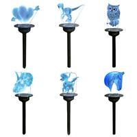 LED Solar-power Lawn Lamp Waterproof Outdoor Yard Garden Decor Lights Cute UK
