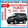 # OFFICIAL WORKSHOP MANUAL service repair FOR MITSUBISHI PAJERO 1991 - 2003
