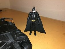 4 Inch Batman Begins Dark Knight Rise Christian Bale Figure & Batmobile