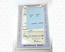 Microscale N Decals Burlington, Western Pacific bulkhead flat cars 60-436