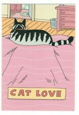 CAT LOVE Comedy Club Greeting Card w/ Envelope Hallmark Humor Funny MG5